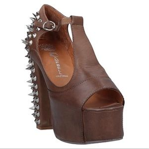 NEW Leather Spiked Platform Heel Jeffrey Campbell